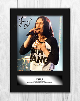 Jessie J 1 A4 Signed Mounted Photograph Picture Poster Choice Of Frame • 29.99£