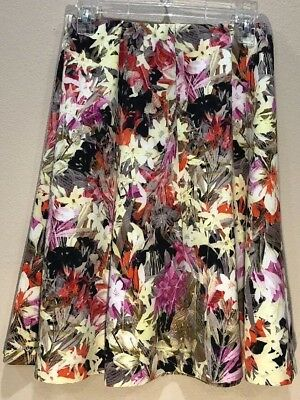 6f4b784ff2 Eci New York Skirt Floral Print Skirt Size Small Stretch • 8.95$