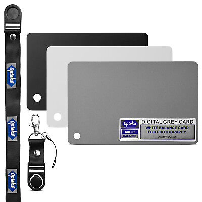 Opteka Pocket-Sized Grey White Balance Card 18% Exposure Kit For Digital Cameras • 6.51£