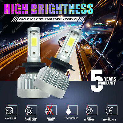 $9.98 • Buy H7 1855W 278250LM CREE LED Headlight Kit High Or Low Beam Bulb 6000K White Power