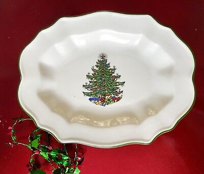 $19.50 • Buy Cuthbertson Original Christmas Tree Candy Nut Dish Made In England Green 9 X 7
