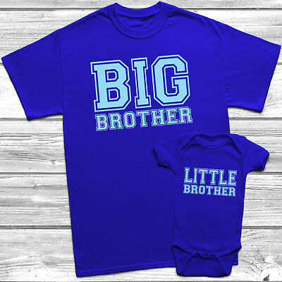 £6.95 • Buy Big Brother Little Brother T-Shirt Kids Baby Grow Brothers Outfits Matching