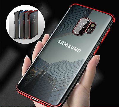 $ CDN5.06 • Buy Luxury Slim Shockproof Silicone Clear Case Cover For Samsung Galaxy S8 S9 S10