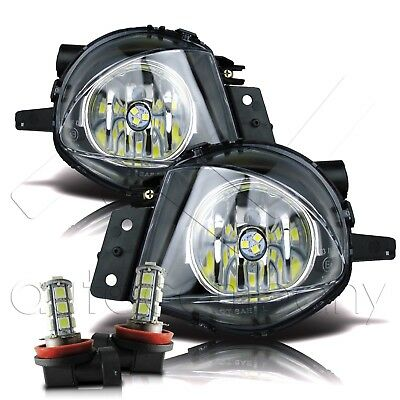 $53.99 • Buy 06-08 BMW E90 3 Series Bumper Replacement Fog Lights Pair W/LED Bulbs- Clear