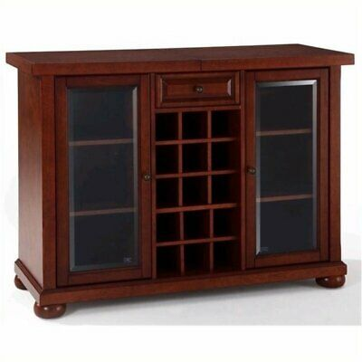 $710.71 • Buy Bowery Hill Sliding Top Home Bar Cabinet In Vintage Mahogany