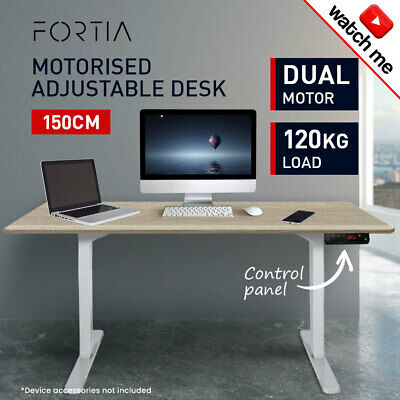 AU469 • Buy 150cm Height Adjustable Standing Desk Electric Motorised Sit Stand Up Office WO