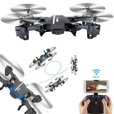 $42.17 • Buy Mini 8807W Foldable With Wifi FPV HD Camera 2.4G 6-Axis RC Quadcopter Drone Toys