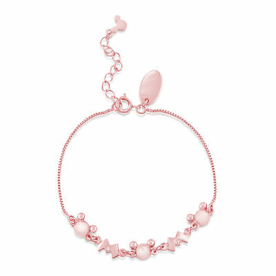 £27 • Buy Disney Couture Kingdom Official M For Mickey Mouse Rose Gold-Plated Bracelet