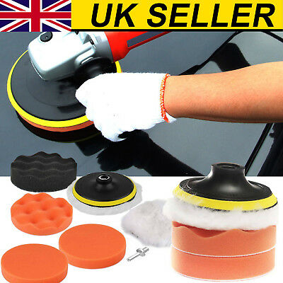 £5.59 • Buy 6X3 Inch Buffing Pad Kit For Polishing Wheel Auto Car With Drill Adapter UK