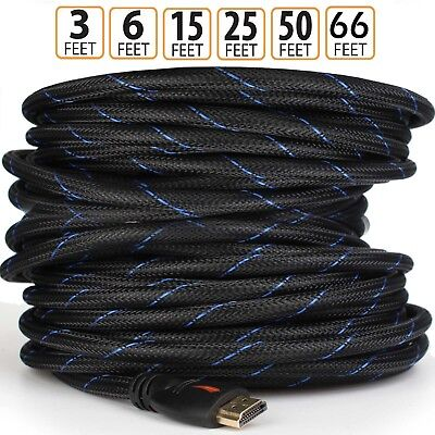 $ CDN14.51 • Buy 2019 NEWEST 4K Braided HDMI Cable ([50 Feet / 50 Ft, HDMI To HDMI]) ARC US Lot