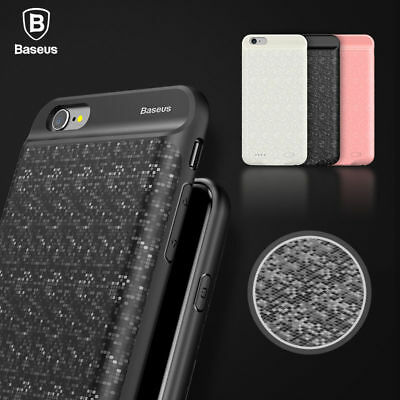 AU39.99 • Buy IPhone X Battery Case 8 7 7 Plus BASEUS Plaid Backpack Power Bank For Apple