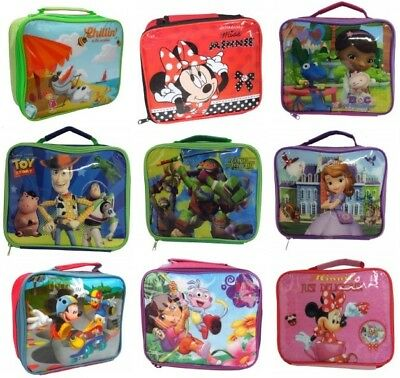 Official Character Childrens Lunch Bag Picnic Bag Lunch Box Back To School Kids • 4.49£
