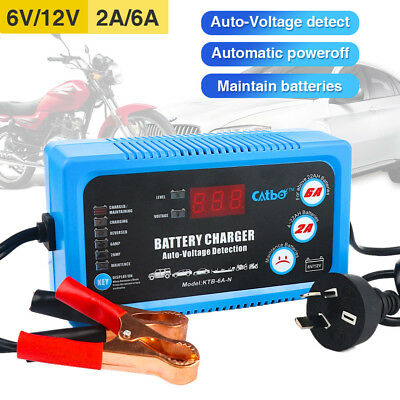 AU46.49 • Buy 6V-12V Volt Battery Charger Maintainer Intelligent Fully Automatic Smart AU