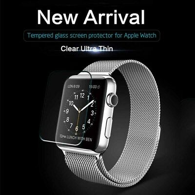 $ CDN4.89 • Buy Tempered Glass Screen Protector Film For IWatch Apple Watch Series 1/2/3 38/42mm