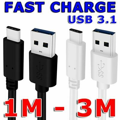 AU5.95 • Buy Type-C USB C 3.1 Male Data Snyc FAST Charger Charging Cable For Samsung Galaxy