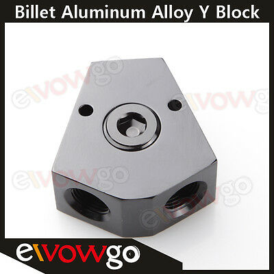 AU17.25 • Buy 3/8'' In 3/8'' Out Female Y-Block Fitting With 1/2  NPT Gauge Port Black