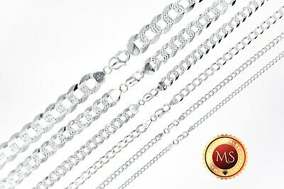 $56.76 • Buy  ITALY 925 SOLID Sterling Silver Diamond Cut CURB Chain Necklace Or Bracelet
