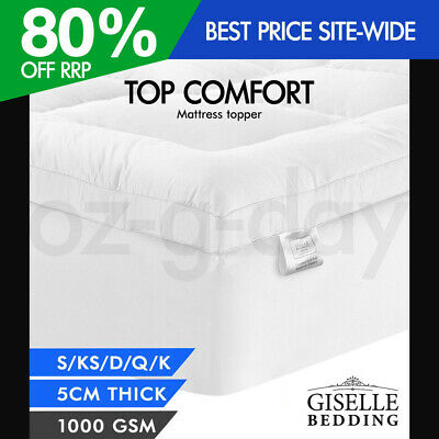 AU65.95 • Buy Giselle Bedding Luxury Pillowtop Mattress Topper Mat Pad Protector – ALL SIZES