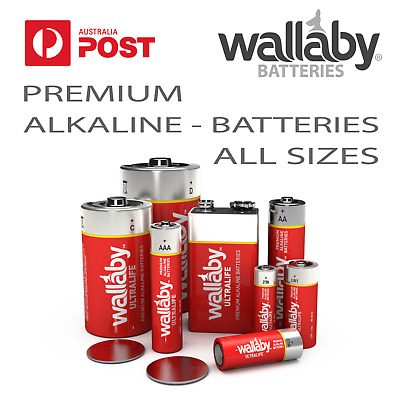 AU5.95 • Buy Wallaby Alkaline Batteries AA,AAA,C,D,9v,23A,27A,LR1,CR2016,CR2025,CR2032,12V
