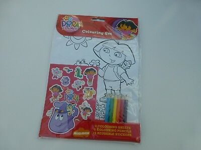 DORA THE EXPLORER COLOURING SET  Kids Party Bags Fillers Toys • 3.99£