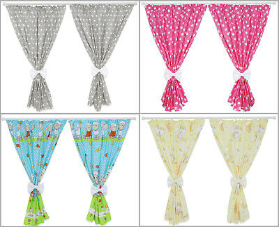 Nursery Curtains Baby Child Kids Bedroom Window Decoration Bows Pincer Clips • 17.99£