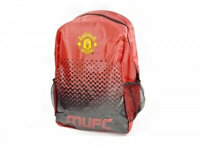 Official Manchester United FADE Backpack Official Bag Football School New 42CM • 14.99£