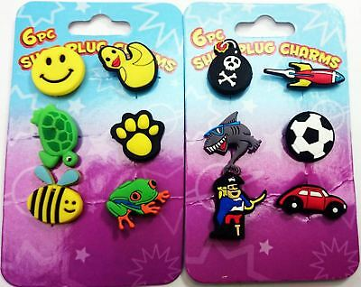 6 Piece Crocs Shoe Plug Charms Slippers Accessories Button Wristbands • 2.23£