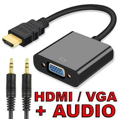 AU7.95 • Buy HDMI Male To VGA Female 1080p Adapter Audio Cable Converter Chipset Built-in