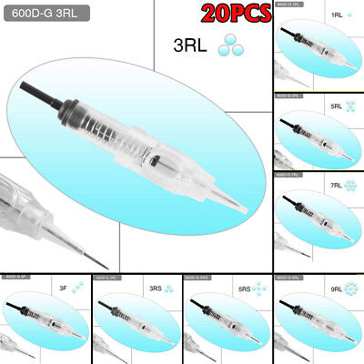 AU15.99 • Buy 20PCS Disposable Sterilized Needles Cartridge For Permanent Makeup Rotary Tattoo