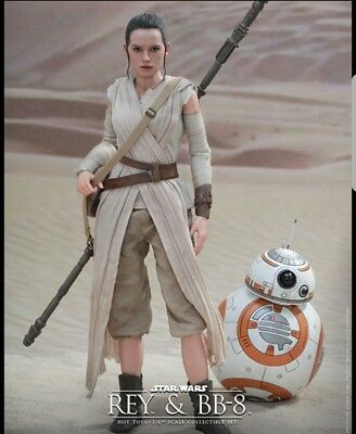 $ CDN369.37 • Buy Star Wars The Force Awakens Rey & BB-8 1/6 Scale Hot Toys 12  Figures MMS337