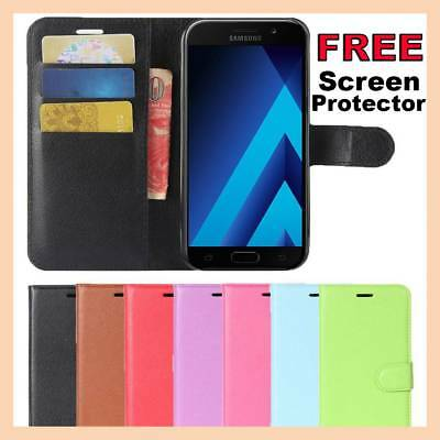 AU6.45 • Buy Leather Flip Case Wallet Gel Cover Stand For Samsung Galaxy A5 J2 J5 J7 Pro 2017