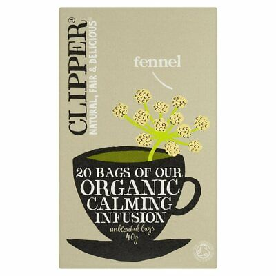£10.79 • Buy Clipper Organic Infusion Fennel Herbal Tea 20bags (7 Pack)