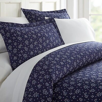 $26.99 • Buy Home Collection Ultra Soft Midnight Blossoms Pattern 3 Piece Duvet Cover Set