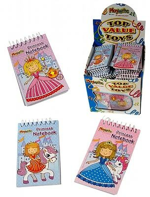 12 Princess Mini Spiral Notebooks For Children's Birthday Party Loot Bags • 2.79£