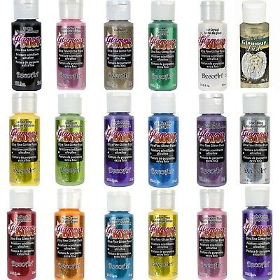 DecoArt - Glamour Dust - All Purpose Glitter Paint 59ml  2oz - 15 Colours • 4.49£