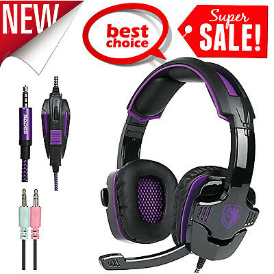 AU29.09 • Buy SADES Gaming Headset SA-930 3.5mm Stereo Headphone Mic For Laptop PS4 Xbox One