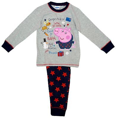 BOYS PEPPA PIG GEORGE LETTER TO SANTA XMAS PYJAMAS 18-24 Months Up To 4-5 Years • 4.99£