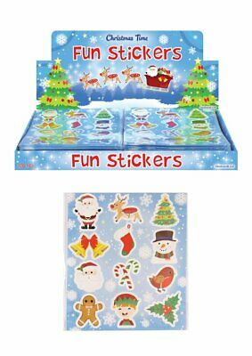 £1.25 • Buy 6 Packs Of Christmas Fun Stickers - Great Stocking Filler, Party Bag Filler