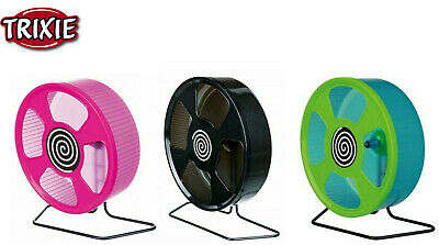 *new* 8  20 Cm Large Syrian Hamster Wheel Plastic With Stand Cage Toy 61010 • 10.99£