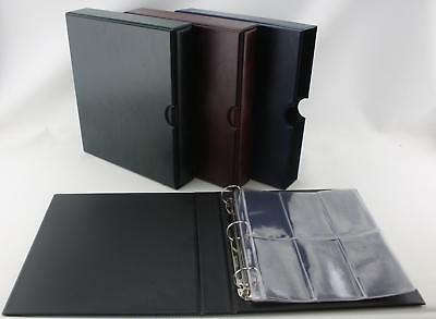 £12.50 • Buy Classic 3 Ring Binder Album For Medal Storage 6 Pocket Pages Various Colours