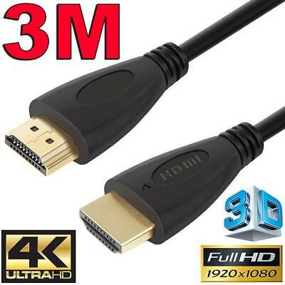 AU8.45 • Buy 3m GOLD HDMI Cable V2.0 Ultra HD 4K 2160p 1080p 3D High Speed Ethernet ARC HEC