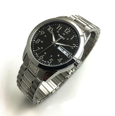 Men's Timex South Street Sport Steel Expansion Band Watch T2M932 • 48.38$