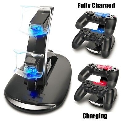 AU15.92 • Buy PS4 Controller Charging Station Dock Stand - Dualshock USB Port Charger Pad Base