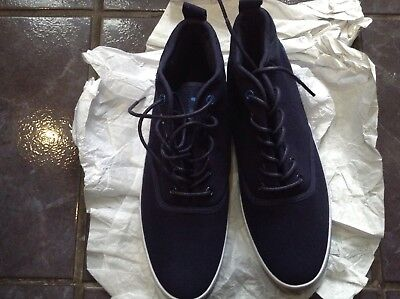 Men's Voi Canvas Trainers Pumps Size 7 Navy • 12£