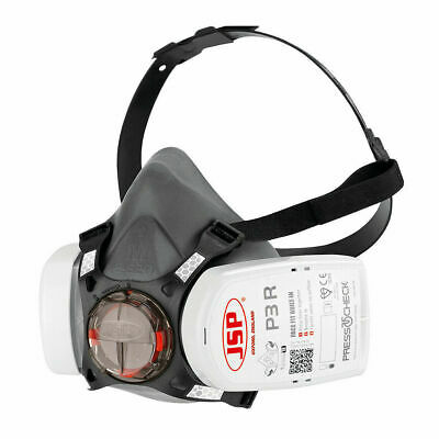 JSP Force 8 P3 Half Mask With FFP3 PressToCheck Dust Filters - Medium Face Size • 23.31£
