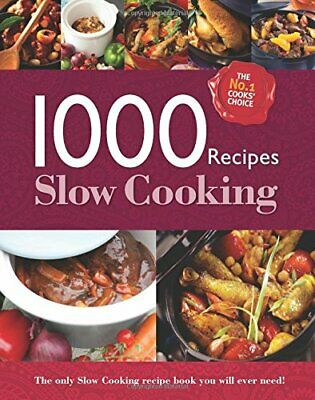 £3.59 • Buy 1000 Recipes - Slow Cooking - Large Format Hardback Book. Phot... By Igloo Books
