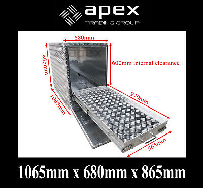 AU800 • Buy Brand New 2.5mm Fridge Box Aluminium Checker Tool Box - Ute Truck Storage - 1068