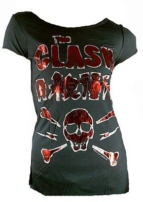 £35.65 • Buy Amplified Official The Clash Skull Screen Emo Punk Rock Star Vip T-shirt Size L