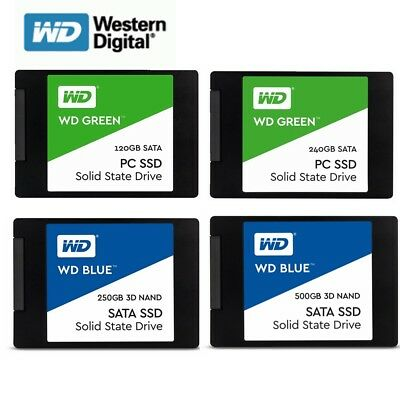 AU49.95 • Buy SSD 120GB 240GB 250G 500G WD Green Blue Internal Solid State Drive HDD 2.5''