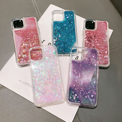 AU5.61 • Buy Bling Liquid Quicksand Clear Soft Case Cover For IPhone 11 Pro Max XR X 8 7 Plus